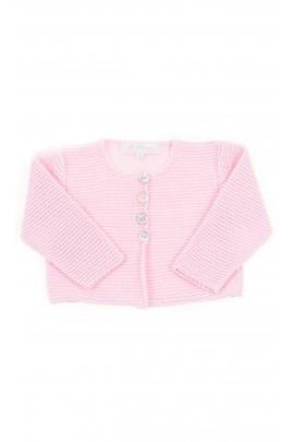 Różowy krótki sweterek niemowlęcy, Ferrari Mariella