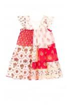 Cienka przewiewna batystowa sukienka, Rene Derhy