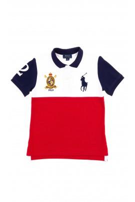 Biało-czerwona koszulka polo chłopięca, Polo Ralph Lauren
