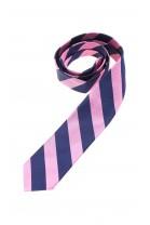 Krawat chłopięcy w granatowo-różowe ukośne paski Polo Ralph Lauren