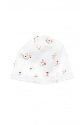 Biała czapeczka dzianinowa dla dziewczynki, Tartine et Chocolat
