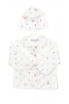Biała kurteczka w kwiatki dla dziewczynki, Tartine et Chocolat