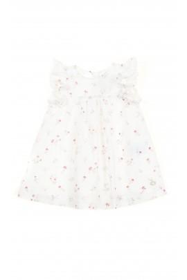 Biała batystowa sukieneczka w kwiatki, Tartine et Chocolat