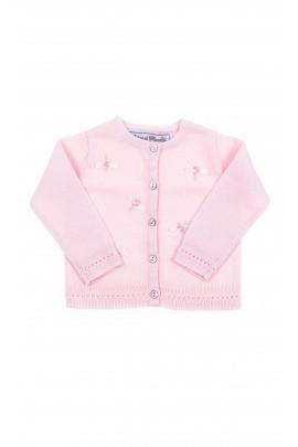 Różowy sweterek niemowlęcy dla dziewczynki, Tartine et Chocolat