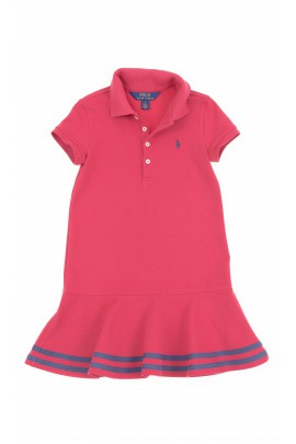 Bordowa sukienka dziewczęca, Polo Ralph Lauren