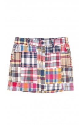 Spódniczka mini w kolorową kratkę, Polo Ralph Lauren