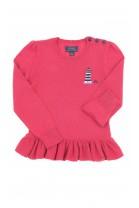 Cienki sweter z falbanką na dole, Polo Ralph Lauren