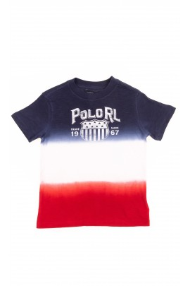 T-shirt bawełniany 3-kolorowy chłopięcy, Polo Ralph Lauren