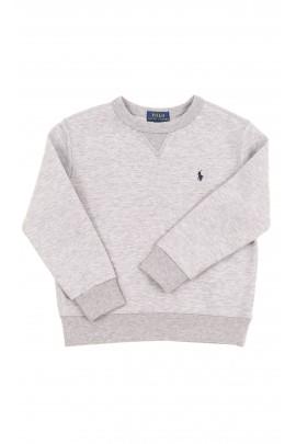 Szara bluza dresowa chłopięca bez kaptura, Polo Ralph Lauren