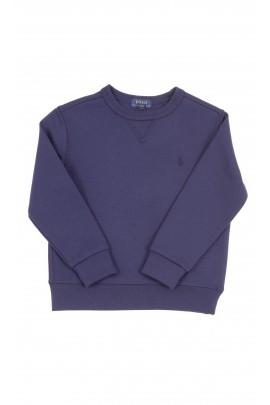 Granatowa bluza dresowa chłopięca bez kaptura, Polo Ralph Lauren
