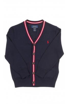 Granatowy sweter chłopięcy rozpinany, Polo Ralph Lauren