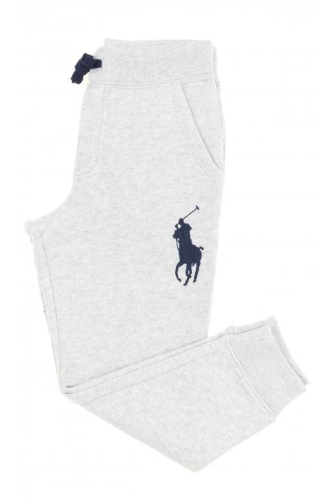 Szare spodnie dresowe dla chłopca, Polo Ralph Lauren