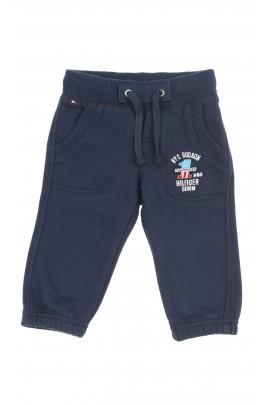 9e9e47f18deb0 Granatowe spodnie dresowe niemowlęce dla chłopca, Tommy Hilfiger