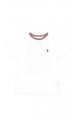 Biały t-shirt chłopięcy na krótki rękaw, Polo Ralph Lauren