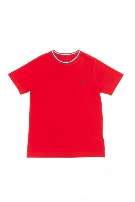 Czerwony t-shirt chłopięcy na krótki rękaw, Polo Ralph Lauren