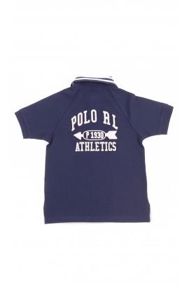 Szaro-granatowa koszulka polo chłopięca, Polo Ralph Lauren