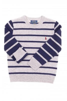 Szaro-granatowy sweter chłopięcy, Polo Ralph Lauren
