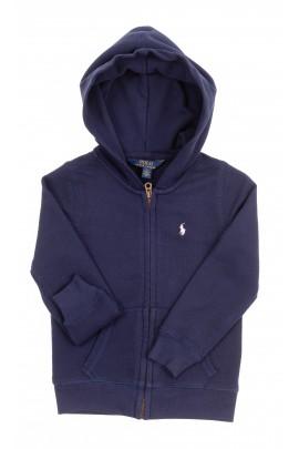 Granatowa bluza dziewczęca z kapturem, Polo Ralph Lauren