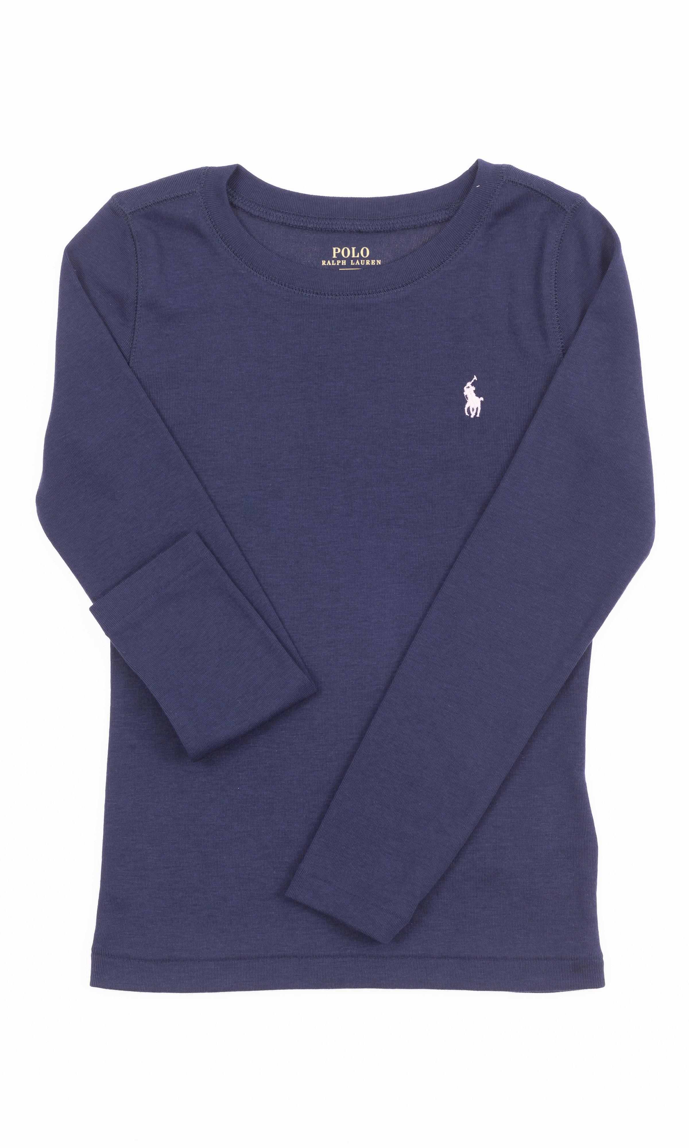 Lauren Club Celebrity Bleu Marine À T Pour Shirt Manches FillePolo Longues Ralph PikXuOZT