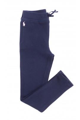 Granatowe spodnie dresowe dziewczęce, Polo Ralph Lauren