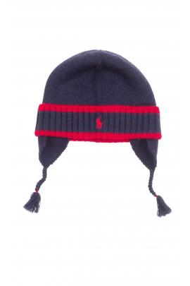 Granatowa czapka wciągana wiązana, Polo Ralph Lauren