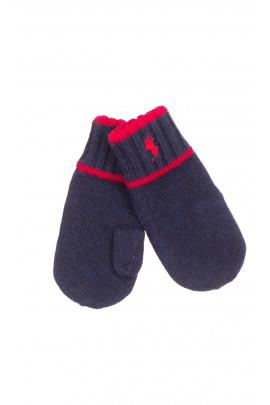 Granatowe rękawiczki z jednym palcem, Polo Ralph Lauren