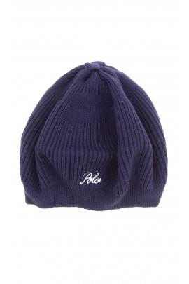 Granatowy beret dziewczęcy, Polo Ralph Lauren