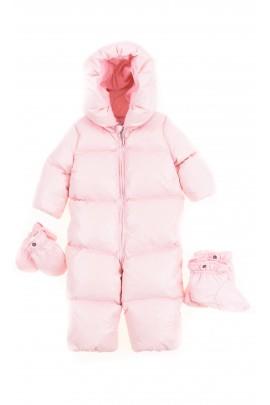 Różowy puchowy kombinezon niemowlęcy, Polo Ralph Lauren