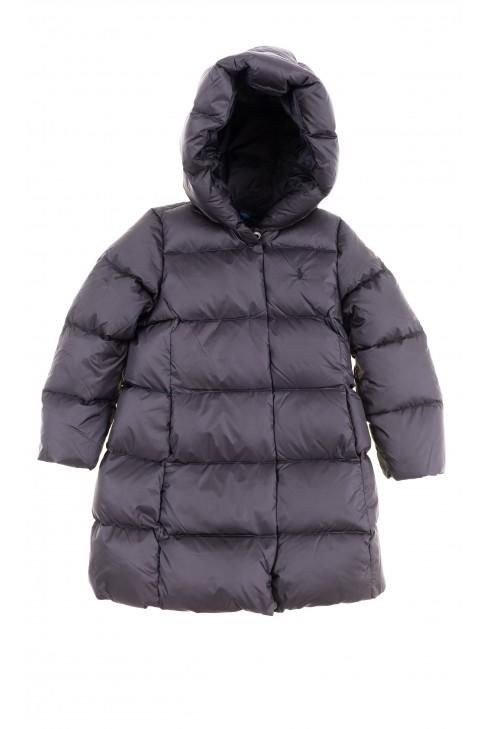 Czarny puchowy płaszcz dziewczęcy, Polo Ralph Lauren