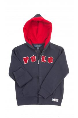 Granatowa bluza dresowa z kapturem, Polo Ralph Lauren