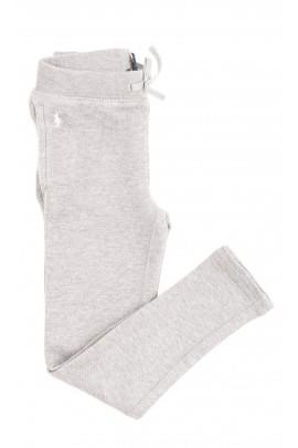 Szare spodnie dresowe dla dziewczynek, Polo Ralph Lauren