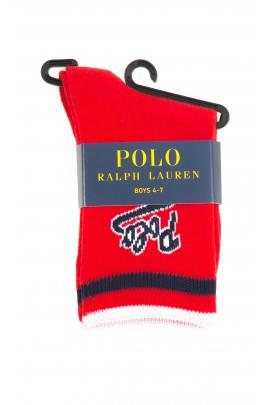 Czerwone skarpetki chłopięce, Polo Ralph Lauren