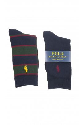 Granatowe skarpetki chłopięce 2-pak, Polo Ralph Lauren