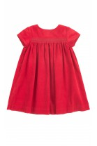 Czerwona sukienka sztruksowa, Polo Ralph Lauren