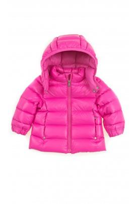 Różowa kurtka puchowa z kapturem, Polo Ralph Lauren