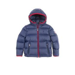 Granatowa kurtka chłopięca z kapturem, Polo Ralph Lauren