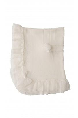Mleczno-biała kapa do chrztu, Aletta
