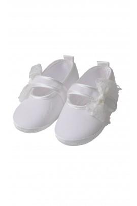 Buciki białe płócienne do chrztu, Aletta