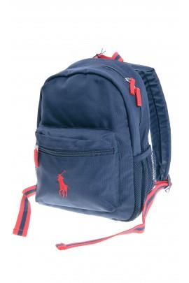 Mały plecak granatowy 1-komorowy, Polo Ralph Lauren