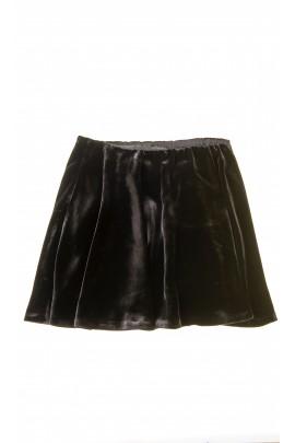 Czarna welurowa spódnica dziewczęca, Polo Ralph Lauren