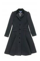 Czarny flauszowy płaszcz dziewczęcy, Polo Ralph Lauren