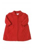 Czerwony wełniany płaszcz niemowlęcy, Polo Ralph Lauren