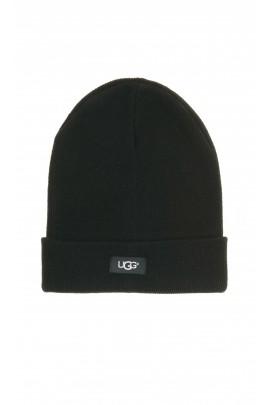 Czarna czapka chłopięca, UGG