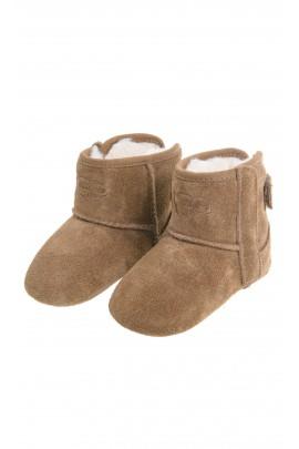 Brązowe buty niemowlęce UGG zapinane z boku i z tyłu, UGG