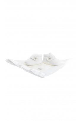Białe kapcie niemowlęce zapinane na rzep, UGG