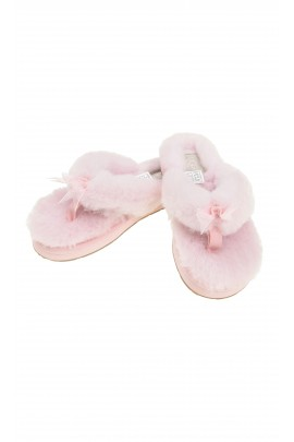 Różowe klapki z futerkiem, UGG