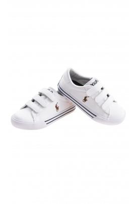 Sportowe białe buty na rzepy, Polo Ralph Lauren
