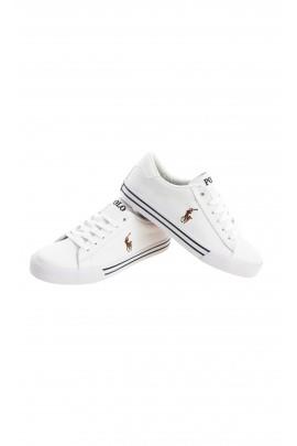 Białe półbuty sportowe sznurowane, Polo Ralph Lauren