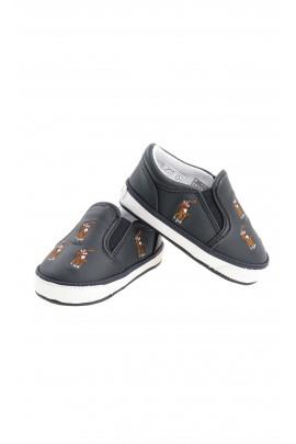 Granatowe niemowlęce buciki w koniki, Polo Ralph Lauren