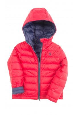 Dwustronna czerwono-granatowa kurtka z kapturem, Polo Ralph Lauren